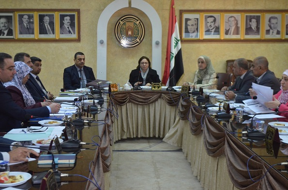 انعقاد مجلس كلية الهندسة بجامعة بغداد